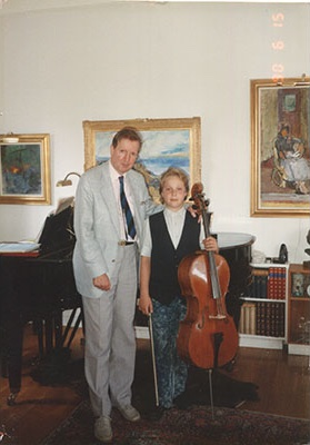 In the home of the legendary Scandinavian cellist, my first former cello teacher, Erling Blöndal Bengtsson. He was accepted by Gregor Piatigorsky as a student at the Curtis Institute of Music at the age of sixteen.