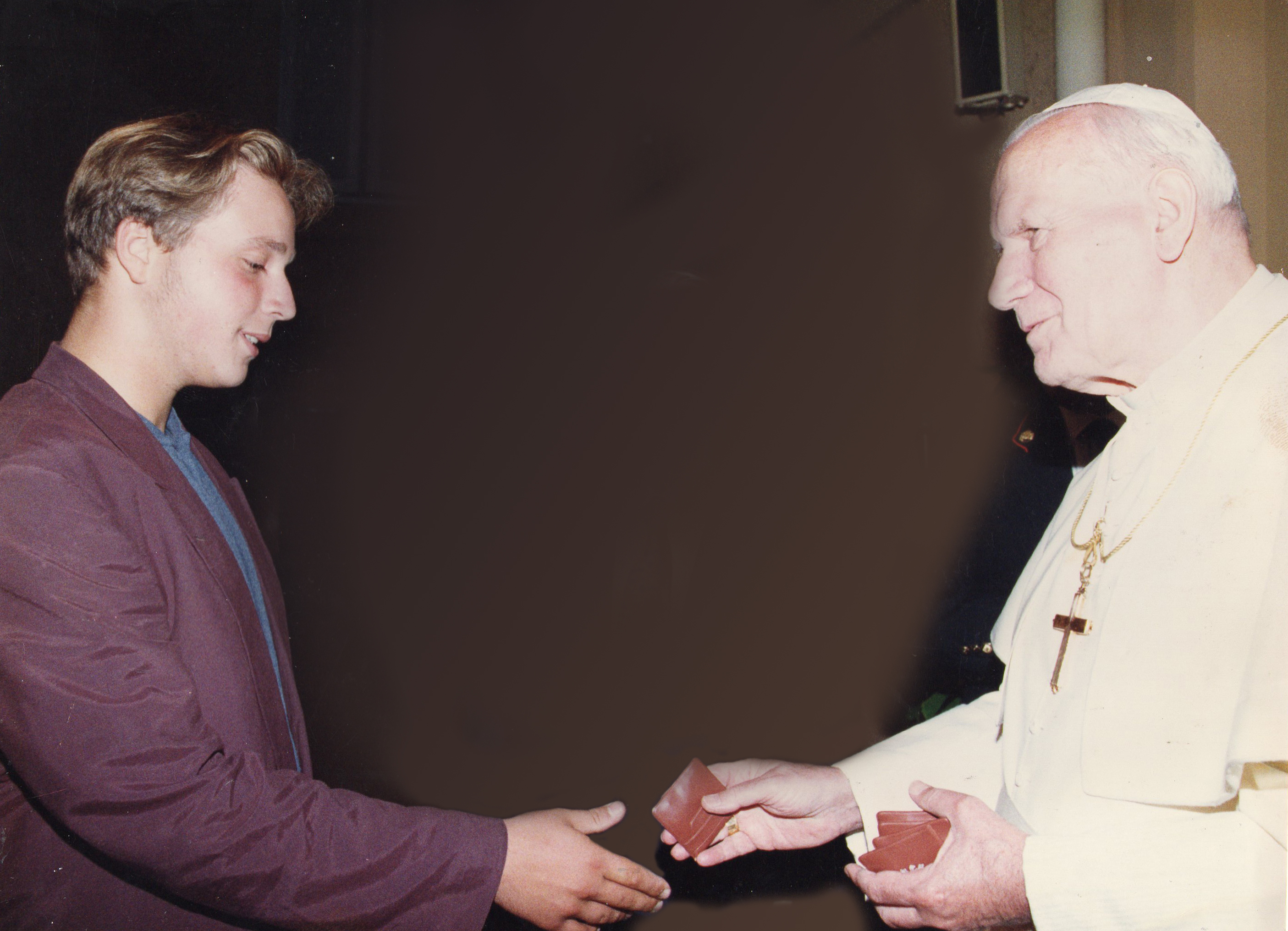Meeting Pope John Paul II, Orvieto, Italy.